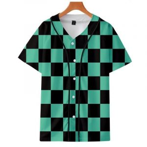 Demon Slayer Baseball Jersey </br> Tanjiro Pattern