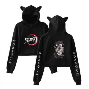 Demon Slayer Crop Top Hoodie Anime