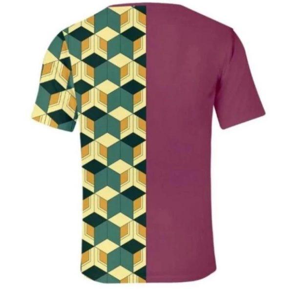 Demon Slayer T-Shirt  Giyu Tomioka Haori Pattern