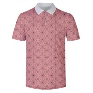 Demon Slayer Polo Shirt  Nezuko Kamado Pattern