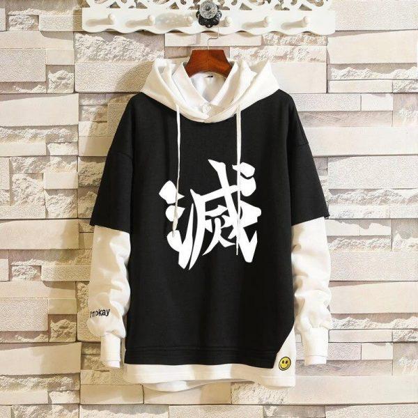 Demon Slayer Hoodie  Corps Uniform Kanji