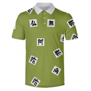 Demon Slayer Polo Shirt  Gyomei Himejima Pattern