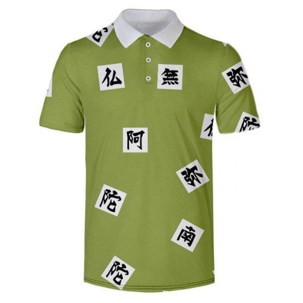 Demon Slayer Polo Shirt  Gyomei Himejima Pattern