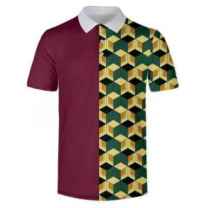 Demon Slayer Polo Shirt  Giyuu Tomioka Pattern