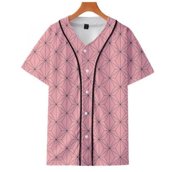 Demon Slayer Baseball Jersey </br> Nezuko Pattern