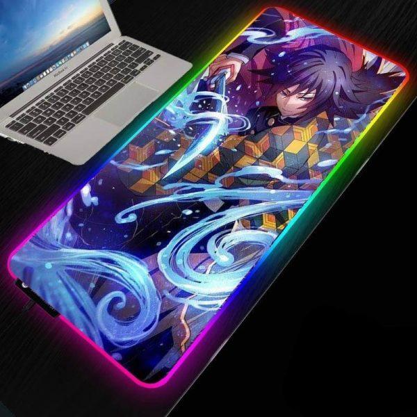 Demon Slayer Mouse Pad </br> Giyuu RGB
