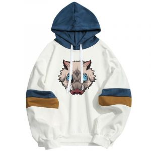 Demon Slayer Hoodie  Inosuke Hashibira Streetwear Boar Head