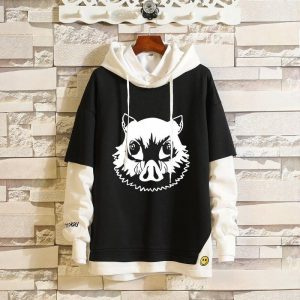 Demon Slayer Hoodie  Inosuke's Boar Head