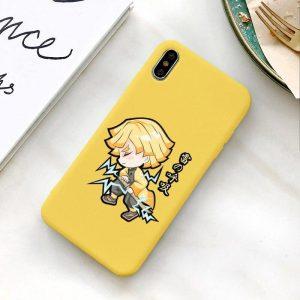 Demon Slayer Phone Case Samsung </br> Zenitsu Chibi Thunder Breathing
