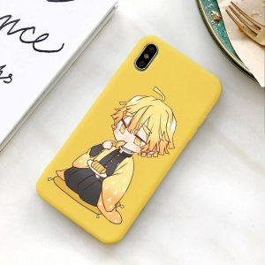 Demon Slayer Phone Case Samsung </br> Cute Zenitsu Eating