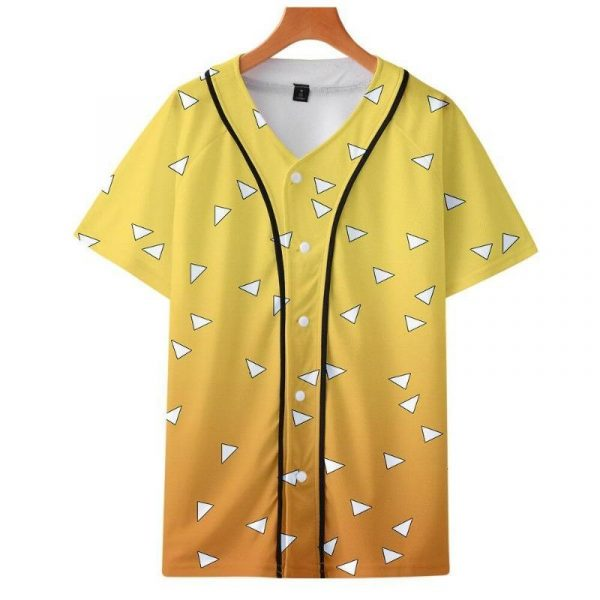 Demon Slayer Baseball Jersey </br> Zenitsu Pattern