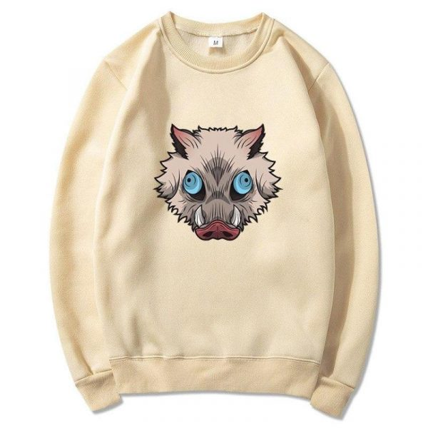 Demon Slayer Sweatshirt  Inosuke's Boar Head