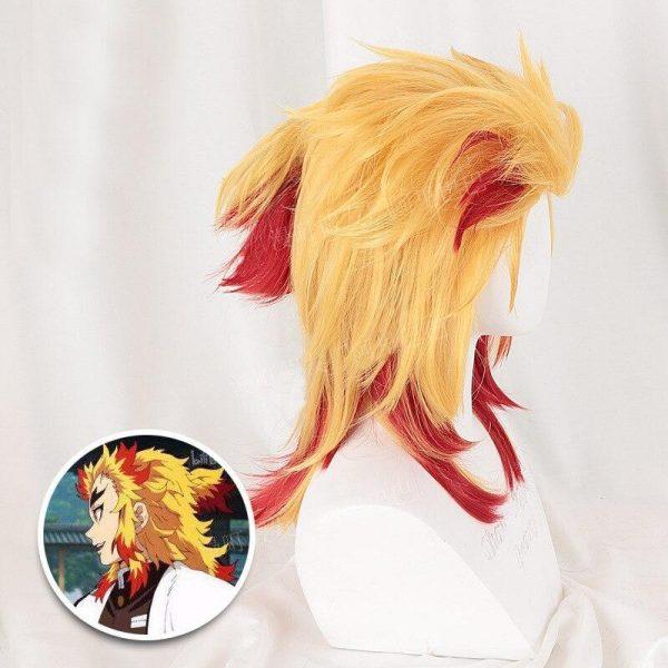 Demon Slayer Cosplay Kyojuro Rengoku Wig