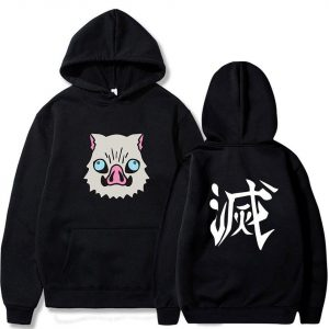 Demon Slayer Hoodie Kawaii Inosuke Boar Head