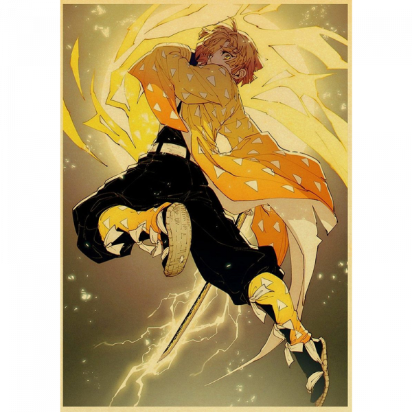 Demon Slayer Poster Zenitsu