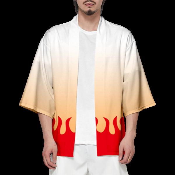 Demon Slayer Kimono Rengoku Kyojuro Pattern