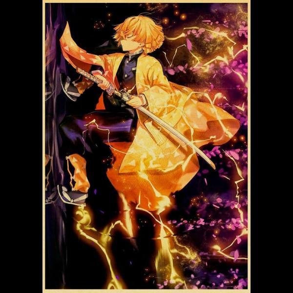 Demon Slayer Poster Zenitsu </br> Thunderclap & Flash