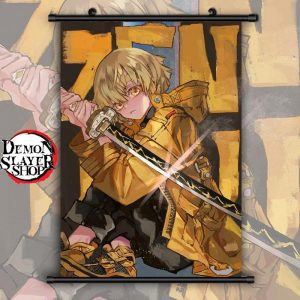Demon Slayer Wall Scroll  Zenitsu Agatsuma