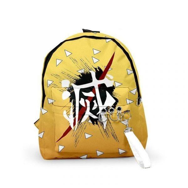Demon Slayer Backpack Zenitsu Agatsuma Pattern