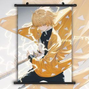Demon Slayer Wall Scroll  Zenitsu