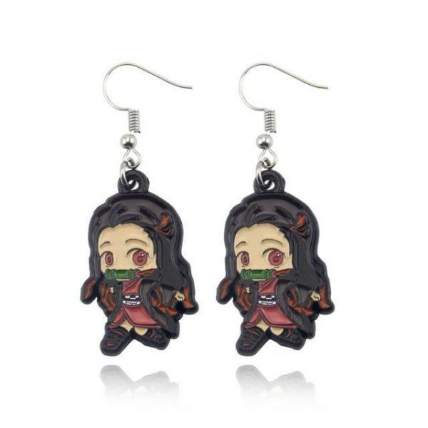 Demon Slayer   Nezuko Earrings Jewel