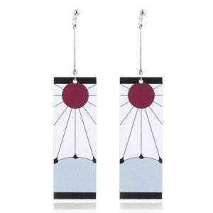 Tanjiro Earrings Hanafuda