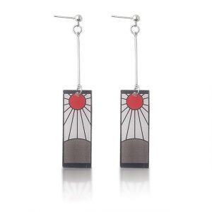 Tanjiro Earrings Hanafuda