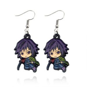 Demon Slayer Earrings   Giyu Tomioka