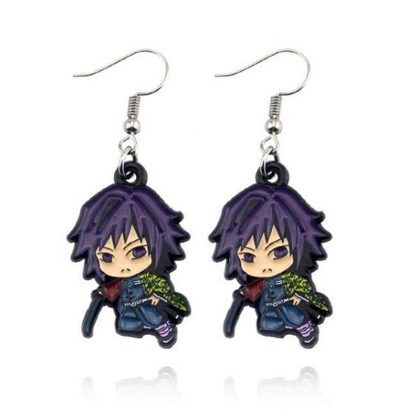 Demon Slayer Earrings   Giyu Tomioka