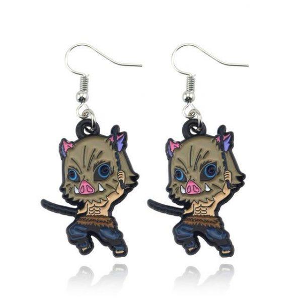 Demon Slayer Earrings   Inosuke Hashibira Trinket
