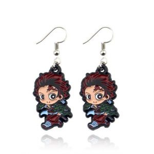 Demon Slayer Earrings   Tanjiro swordsman