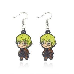 Demon Slayer Earrings   Zenitsu Agatsuma Jewelry