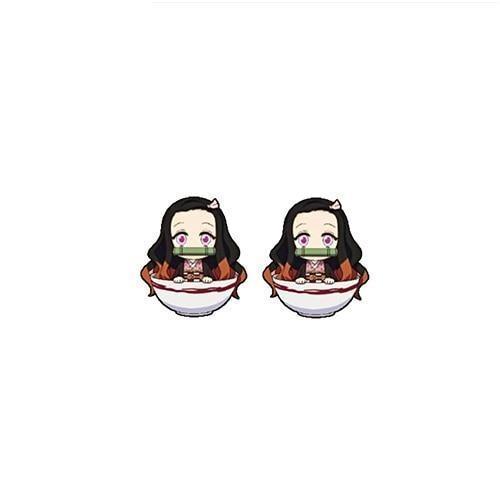 Nezuko Earrings Kimetsu No Yaiba