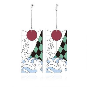 Demon Slayer Earrings   Tanjiro Kamado Earrings